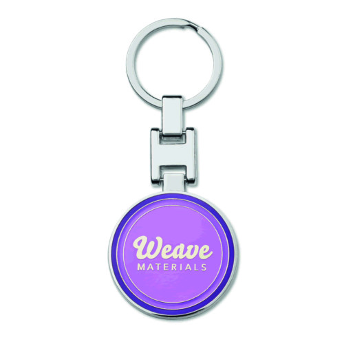 Metallinen avaimenperä omalla logolla kääntömekanismilla ja pehmeä emali (sileä)